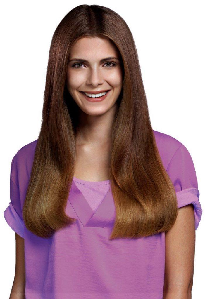 coiffure obtenue avec le lisseur philips hp8321/20
