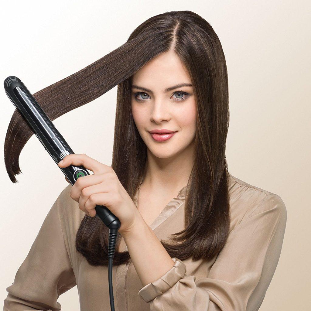 utilisation du lisseur Braun Satin Hair 7 SensoCare St780
