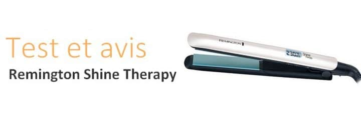 banniere du lisseur remington shine therapy